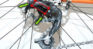 How does a bicycle rear derailleur work?