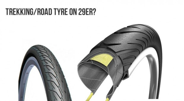 Can I use road/trekking tires on 29er mountain bikes?
