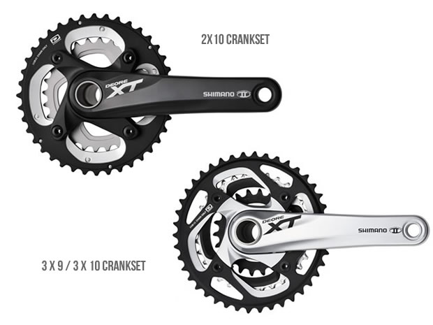 Bicycle cranksets types